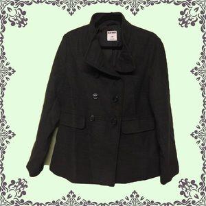EUC OLD NAVY Classic Dark Gray Pea Coat